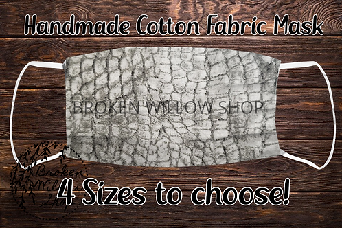 Scales 100% Cotton Face Mask