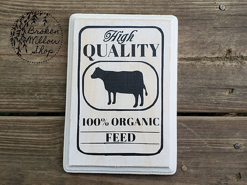 "READY TO SHIP Farm Cow Wooden Wall Hanging 5"" x 7"""