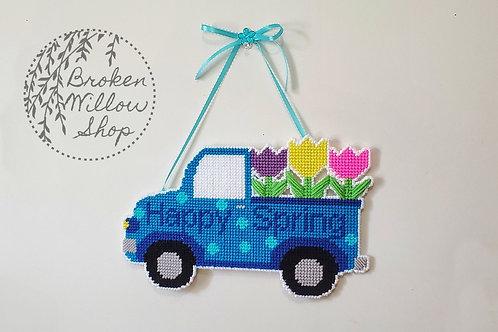 Spring Truck Plastic Canvas Wall/Door Hanger