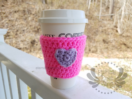 ANY COLOR(S) Crochet Coffee Cozy Heart