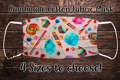 Candy Handmade 100% Cotton Face Mask