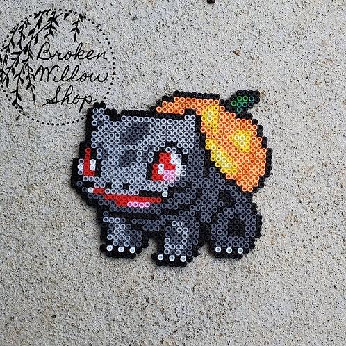Bulbasaur Halloween Mini Perler Bead Art Pokemon