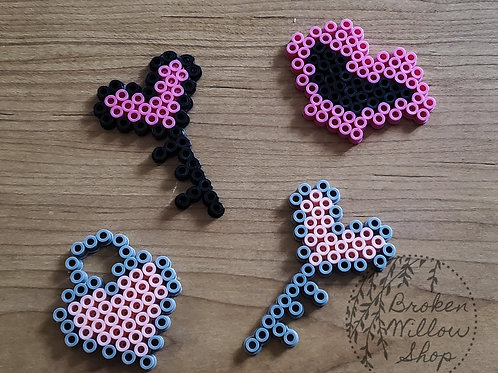 Valentine's Day Magnets Perler Bead Choose 1 or all 4!