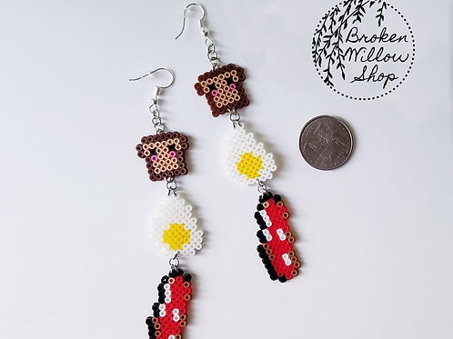Little Breakfast Mini Perler Earrings
