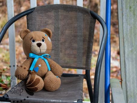 """ANY COLOR Crochet Teddy Bear 18"""" Tall"""