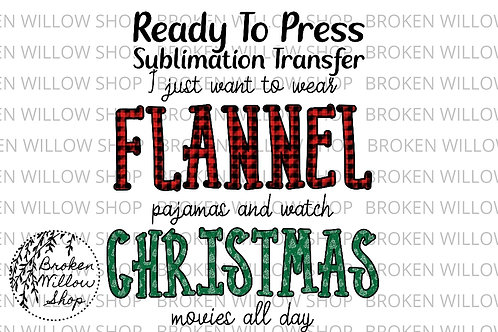 Flannel & Christmas Ready to Press Sublimation Transfer Christmas, Holiday