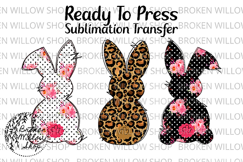Easter Bunny Ready to Press Sublimation Transfer, Easter, Holiday