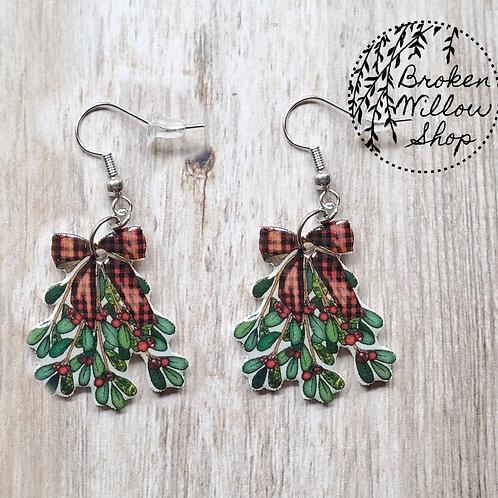 Christmas Mistletoe Earrings