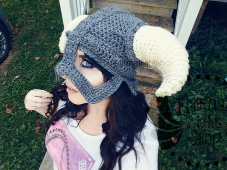 ALL SIZES/COLORS Viking Beanie Norse Helmet Hat
