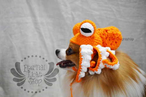 ANY Sizes/Colors Pet Octopus Kraken Hat Beanie (XS-XL)