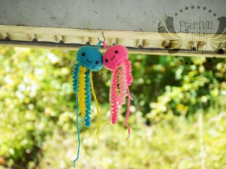 ANY COLORS Crochet Jellyfish Ornament