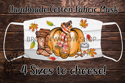 Sublimated Fall 100% Cotton Face Mask