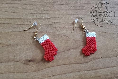 Little Stockings Mini Perler Earrings