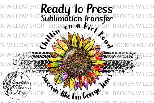 Dirt Road Ready To Press Sublimation Transfer