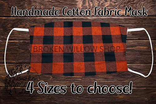 Buffalo Plaid Handmade 100% Cotton Face Mask