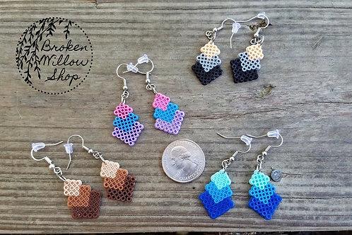 Little Block Mini Perler Earrings
