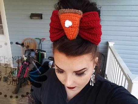 Thanksgiving Pumpkin Pie Huge Bow