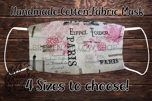 Paris 100% Cotton Face Mask