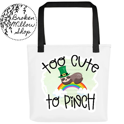 Too Cute to Pinch St. Patrick's Day Tote bag