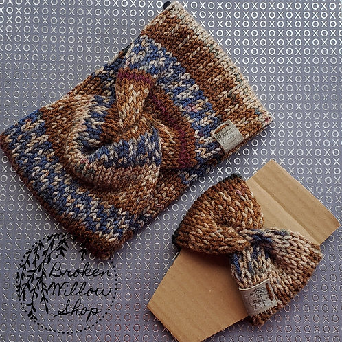 Ready To Ship Adult Double Knit Head Band & Cup Cozy