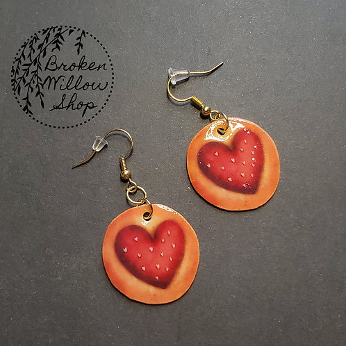 Valetine's Heart Cookie Earrings