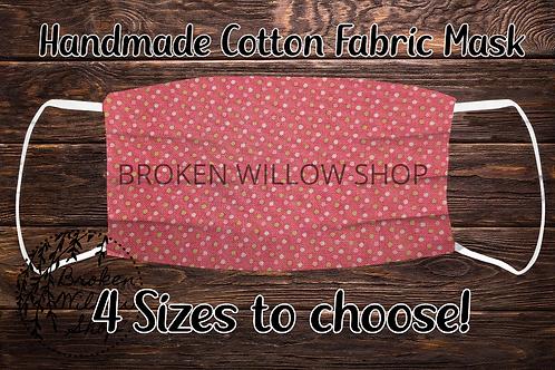 Pink Dots Handmade 100% Cotton Face Mask