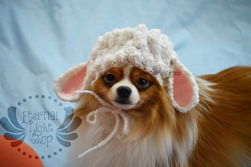 ANY Sizes/Colors Pet Sheep Hat Beanie (XS-XL)