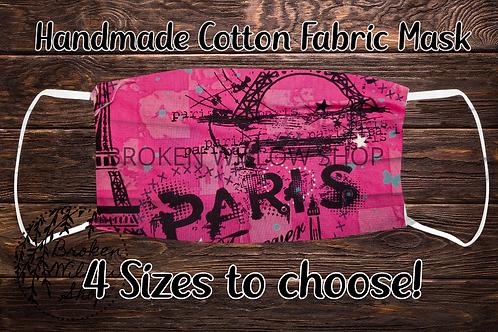 Pink Paris 100% Cotton Face Mask