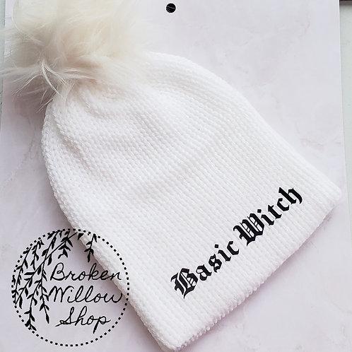 Ready To Ship Basic Witch Teen/Adult Double Knit Beanie Optional Pom Pom