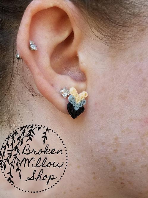 Little Chevron Mini Perler Earrings