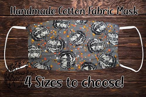 Halloween Pumpkins 100% Cotton Face Mask