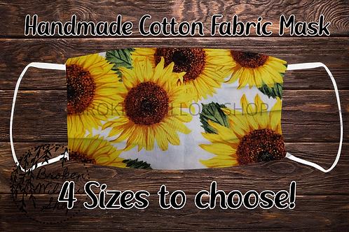 Sunflowers 100% Cotton Face Mask