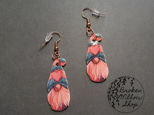 Valetine's Gnome Earrings