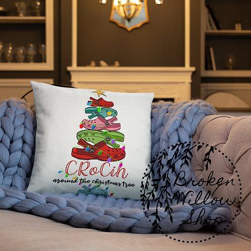 Crocin Around the Christmas Tree Basic Pillow