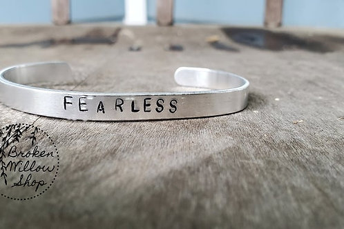 "Fearless Stamped Bracelet 1/4"" x 6"""
