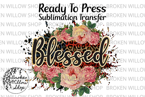 Blessed Ready To Press Sublimation Transfer, 4th of July