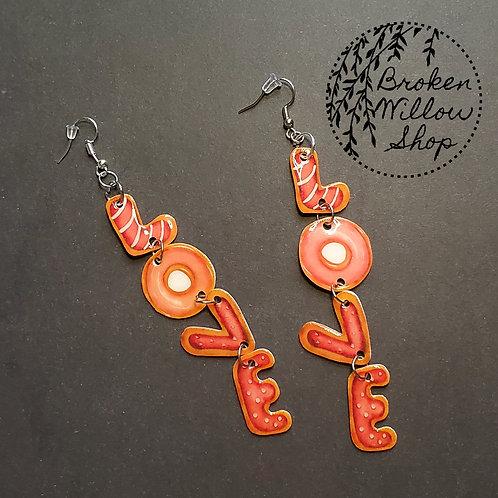 Valetine's Love Dangle Earrings