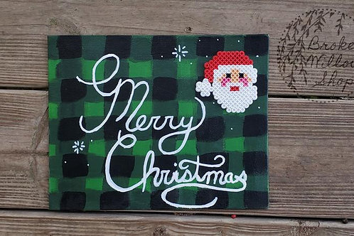 Merry Christmas Perler Bead Paintings