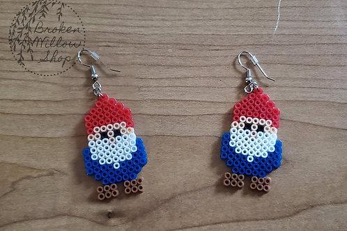 Little Gnome Mini Perler Earrings