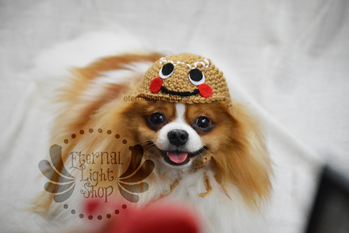 Pet Gingerbread Hat Beanie (XS-XL) Any Colors Cookie