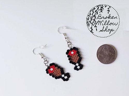 Little Meat Mini Perler Earrings