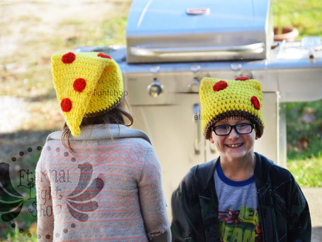 ALL SIZES Pizza Slice Hat