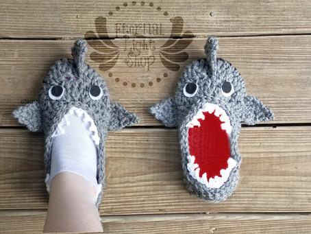 ANY SIZES Shark Slippers
