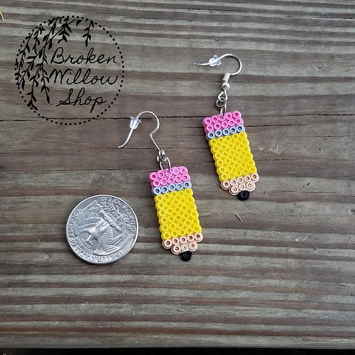 Little Pencils Mini Perler Earrings