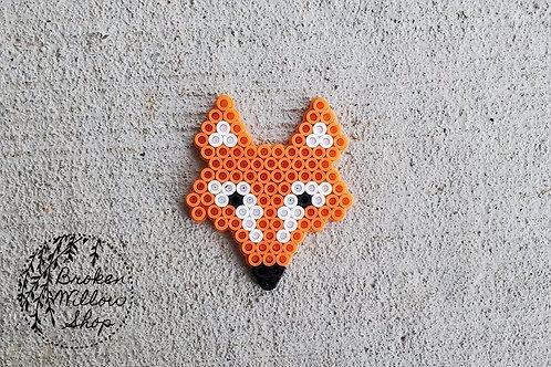 Fox Head Perler Bead Art