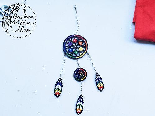 Dream Catcher Mini Perler Bead Art