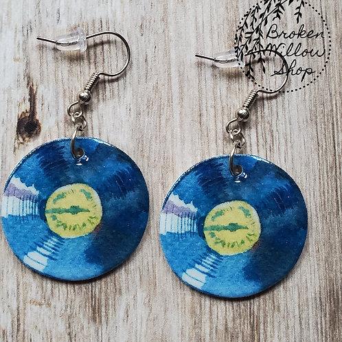 Music Records Earrings