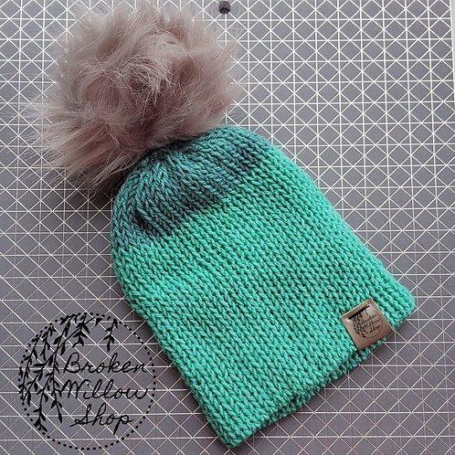 Ready To Ship Baby/Toddler Double Knit Beanie Optional Pom Pom