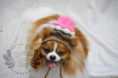 ANY Sizes/Colors Pet Ice Cream Scoops Hat Beanie (XS-XL)