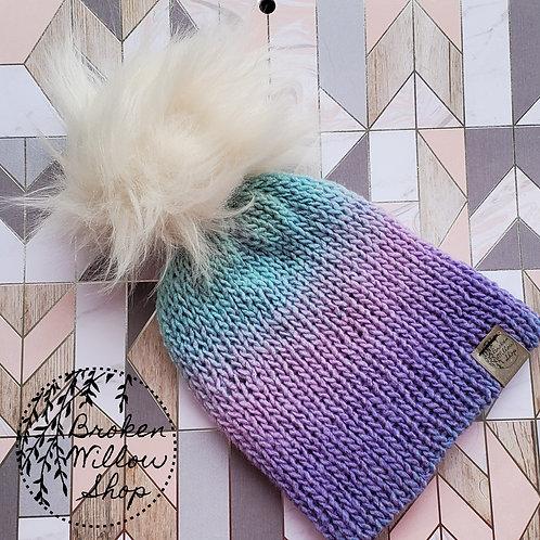 Ready To Ship Baby/Toddler Double Knit Beanie Optional Pom Pom